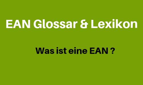 EAN :  European Article Number (EAN)